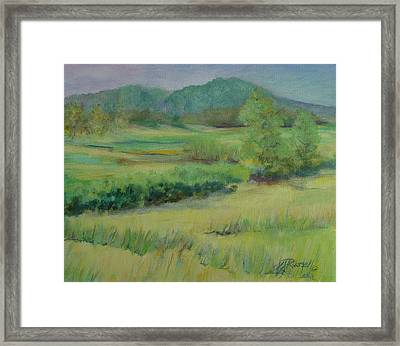 Valley Ranch Rural Western Landscape Painting Oregon Art  Framed Print