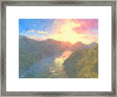 Valley Serenity Framed Print by Aindriu G