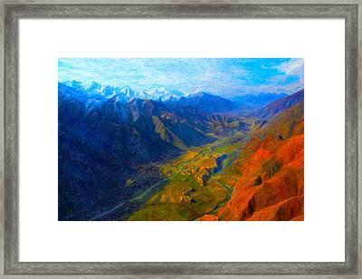 Valley Shadows Framed Print