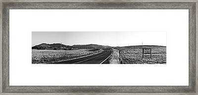 Valley Springs Road Panorama Framed Print