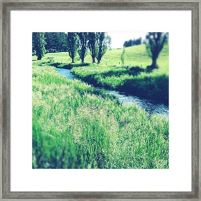 Valley Stream Framed Print by Les Cunliffe