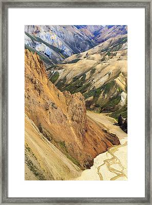 Valley Through Rhyolite Mountains Framed Print