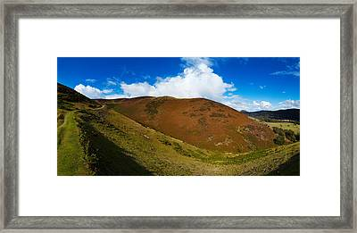 Valley To Hopes Wood, Little Stretton Framed Print by Panoramic Images