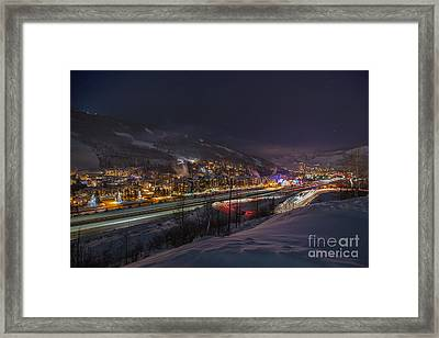 Valley Traffic Framed Print