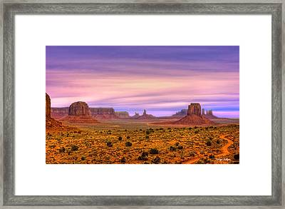 Valley Trail Framed Print by Darryl Gallegos