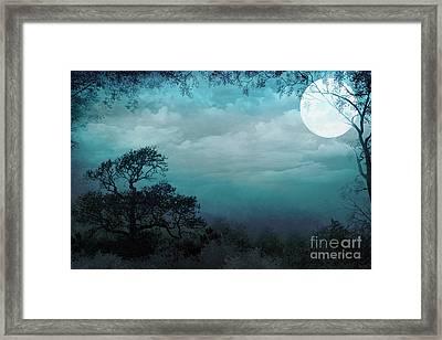 Valley Under Moonlight Framed Print