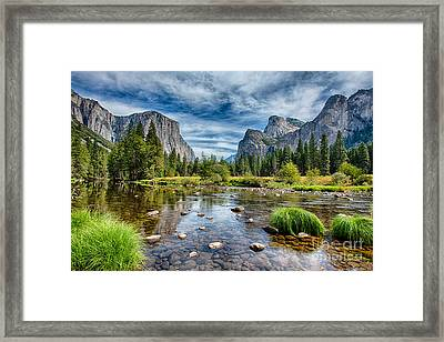 Valley View And The Merced Framed Print