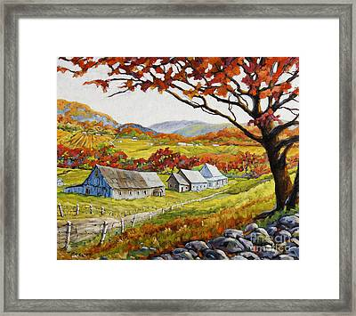 Valley View By Prankearts Framed Print by Richard T Pranke