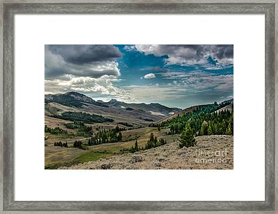 Valley View In The Lost River Moutains Framed Print by Robert Bales