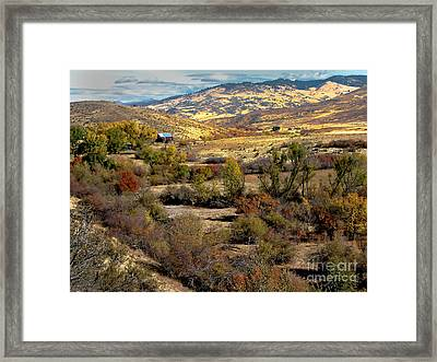 Valley View Framed Print by Robert Bales