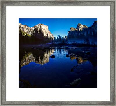 Valley View Yosemite National Park Reflection Framed Print by Scott McGuire