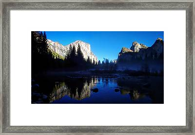 Valley View Yosemite National Park Waterscape Framed Print