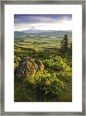 Valley Vista Framed Print