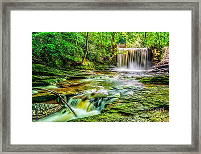 Valley Waterfall  Framed Print by Adrian Evans