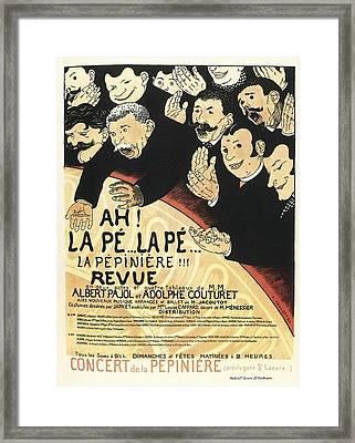 Vallotton, F�lix 1865-1925. Ah La Pe Framed Print by Everett