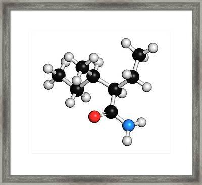 Valnoctamide Sedative Drug Molecule Framed Print by Molekuul