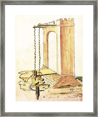 Valturio, Roberto 1405-1475. De Re Framed Print