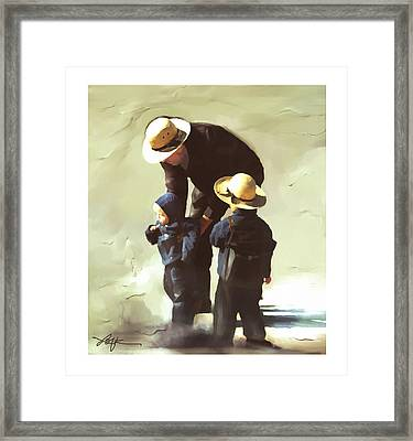 Framed Print featuring the painting Value Your Children by Bob Salo