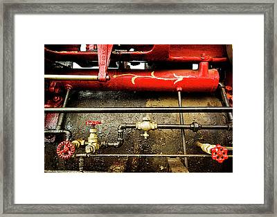 Valves Lines And Tanks Framed Print by Dale Stillman