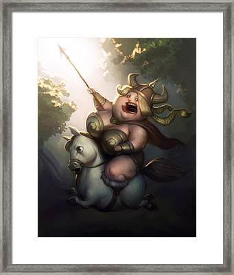 Valyrie Framed Print by Adam Ford