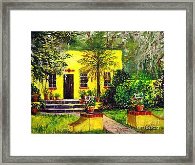 Framed Print featuring the painting Vamo Road House by Lou Ann Bagnall