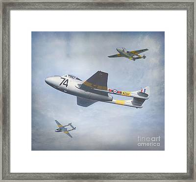 Framed Print featuring the photograph Vampire Jet II by Roy  McPeak
