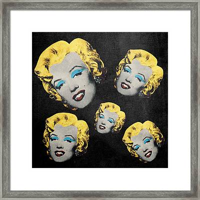 Vampire Marilyn 5 Framed Print by Filippo B