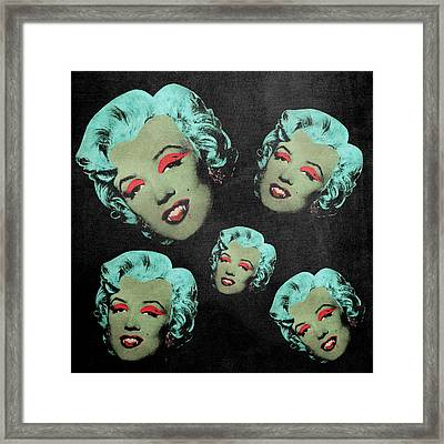 Vampire Marilyn 5a Framed Print by Filippo B
