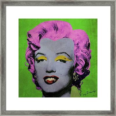 Vampire Marilyn Variant 2 Framed Print by Filippo B