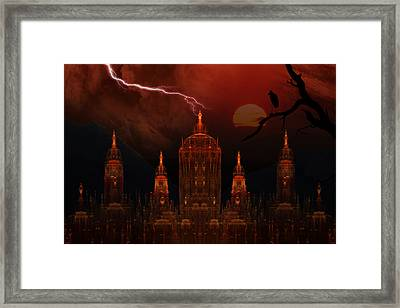 Vampire Palace Framed Print