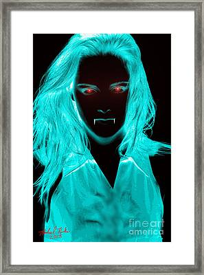 Vampirette Framed Print by Michael Rucker