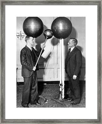 Van De Graaff And Karl Compton Framed Print