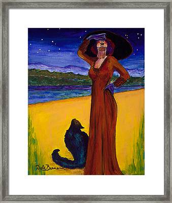 Van Goes With Mrs. Klimt On A Starry Night Framed Print