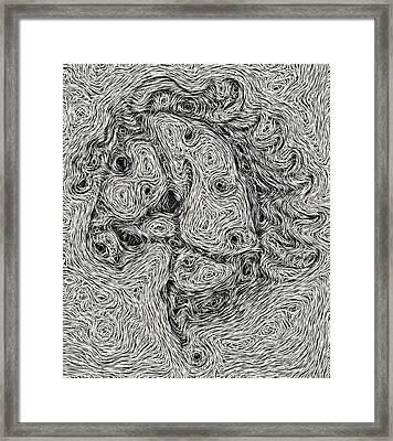 Van Gogh Carousel Horse Framed Print by Shannon Story