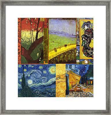 Van Gogh Collage Framed Print