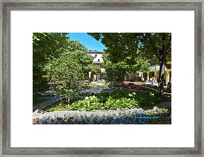 Framed Print featuring the photograph Van Gogh - Courtyard In Arles by Allen Sheffield