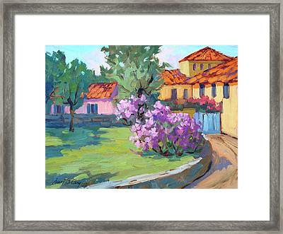 Van Gogh Hospital St. Remy Framed Print by Diane McClary