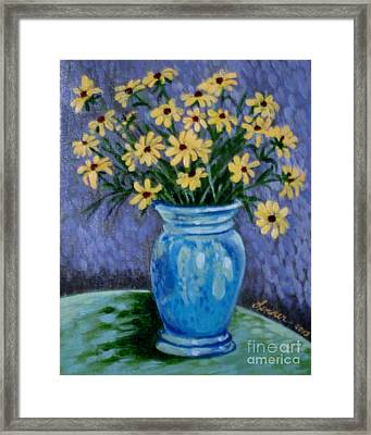 Van Gogh-ish Flowers In A Vase Framed Print