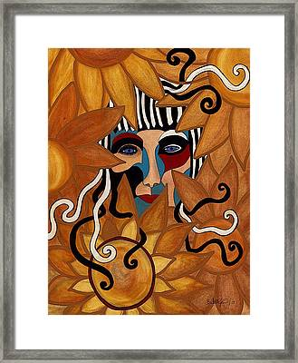 Van Gogh Meets Picasso Framed Print by Barbara St Jean