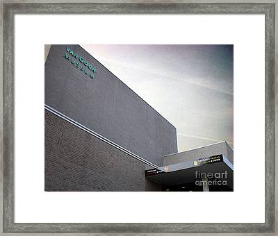 Framed Print featuring the photograph Van Gogh Museum Exterior by Michael Edwards