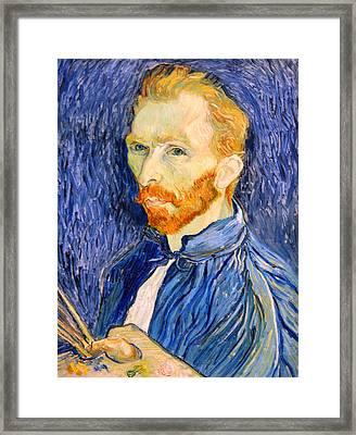 Framed Print featuring the photograph Van Gogh On Van Gogh by Cora Wandel