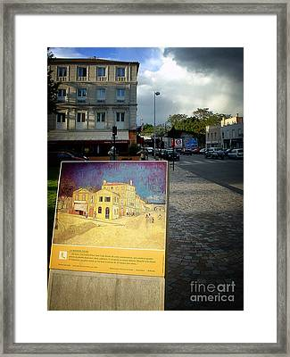 Framed Print featuring the photograph Van Gogh Painting In Arles by Michael Edwards