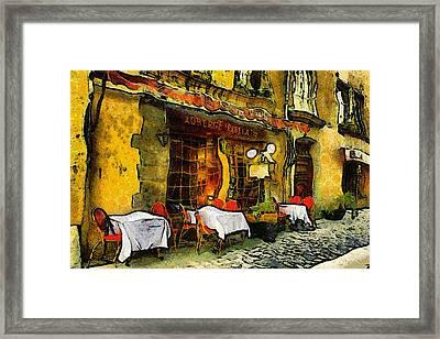Van Gogh Style Restaurant Framed Print by Georgiana Romanovna
