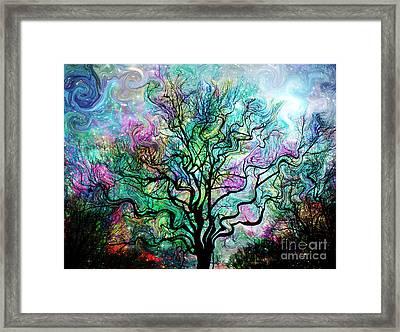 Van Gogh's Aurora Borealis Framed Print by Barbara Chichester