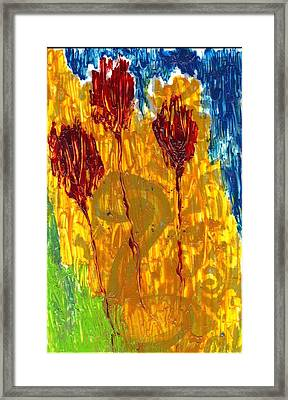 Van Gogh's Garden Of Eden Framed Print by Lesley Fletcher