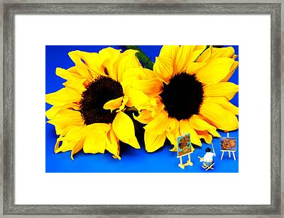 Van Gogh's Sunflower Miniature Art Framed Print