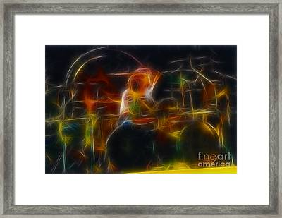 Van Halen-alex-93-gc5-fractal Framed Print by Gary Gingrich Galleries