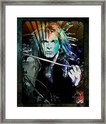 Van Halen - David Lee Roth Framed Print by Absinthe Art By Michelle LeAnn Scott