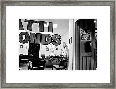 Van Nuys Boulevard-004-23a Orsatti Bonds Framed Print