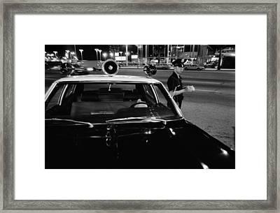 Van Nuys Boulevard 095 22a The Rookie Framed Print by Richard McCloskey